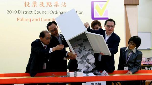 香港区议会选举点票