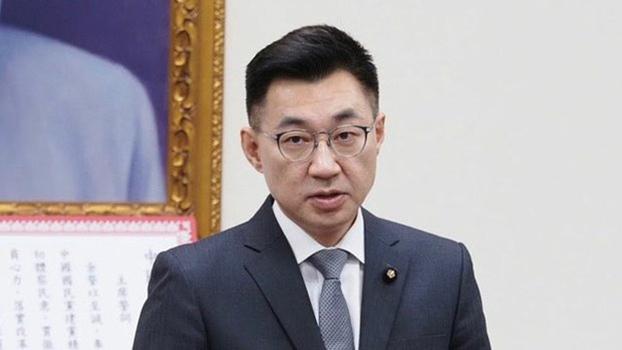 国民党主席江启臣 (记者黄春梅摄)
