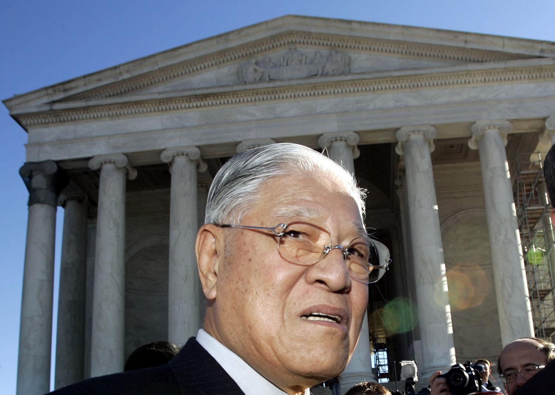 2005年10月17日,李登辉在华盛顿杰佛逊纪念堂(Jefferson Memorial)。(路透社)