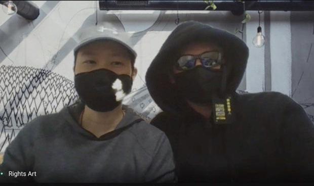 阿瑞塔(左)和本杰明(右)在与记者进行视频访谈。(孙诚拍摄,独家首发)