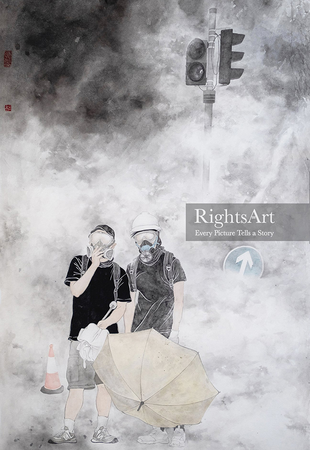 """""""维艺志""""上出售的画作《日常I》。(画家Jacky Tao作,来自""""维艺志""""网站)"""