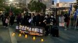 舊金山數百人齊聚花園角廣場  舉行六四32週年悼念集會