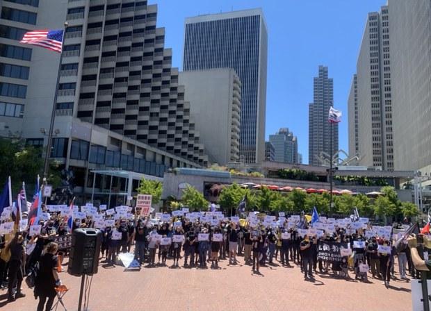 """舊金山數百人""""如水再聚""""  紀念香港612事件兩週年"""