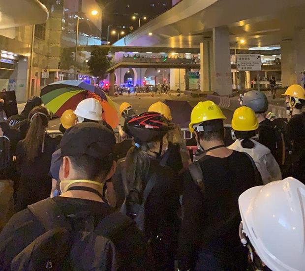 2019年7月28日,泰瑞·李在上環參加抗爭時拍攝的照片。(泰瑞·李提供,獨家首發)
