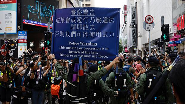 《经济学人》杂志发布2020年度全球民主指数,香港的民主状况连续第二年恶化。(路透社资料图)