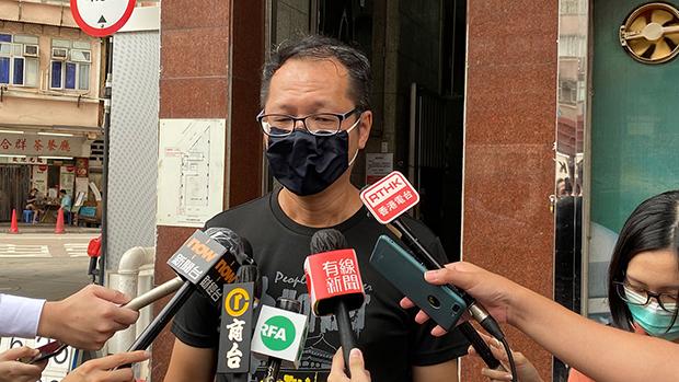 香港支联会秘书长蔡耀昌从第一届维园晚会开始就是积极参与者 (记者邓颖韬摄)