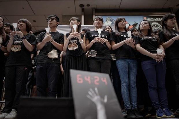 HONG-KONG-STUDNET-PROTEST-TIANANMEN-JUNE4