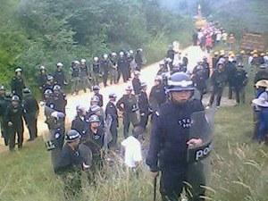 图片:广东肇庆广宁强行征地,殴打抓捕村民(志愿者)