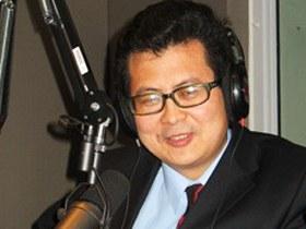 图片:郭飞雄2006年在美国接受自由亚洲电台普通话部的采访(RFA)