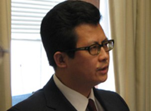 图片:郭飞雄参加06年5月在华盛顿召开的宗教自由高峰会议(RFA)