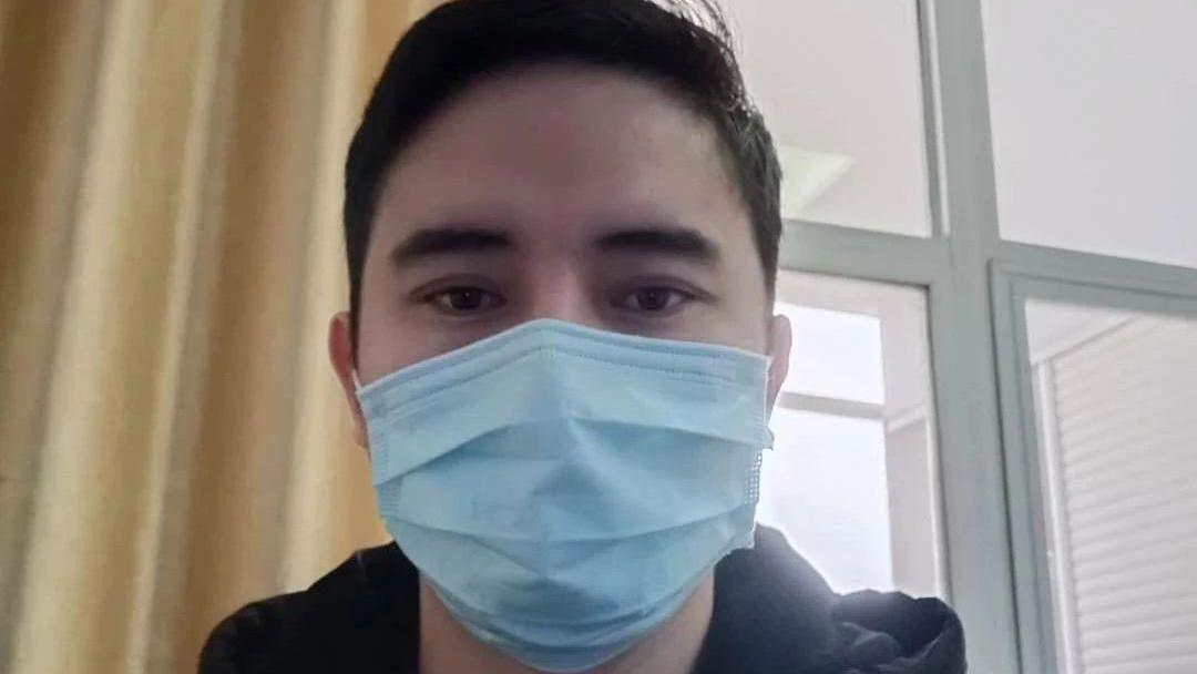 湖北邱贯东牧师感染武汉肺炎后来康复。(基督时报)