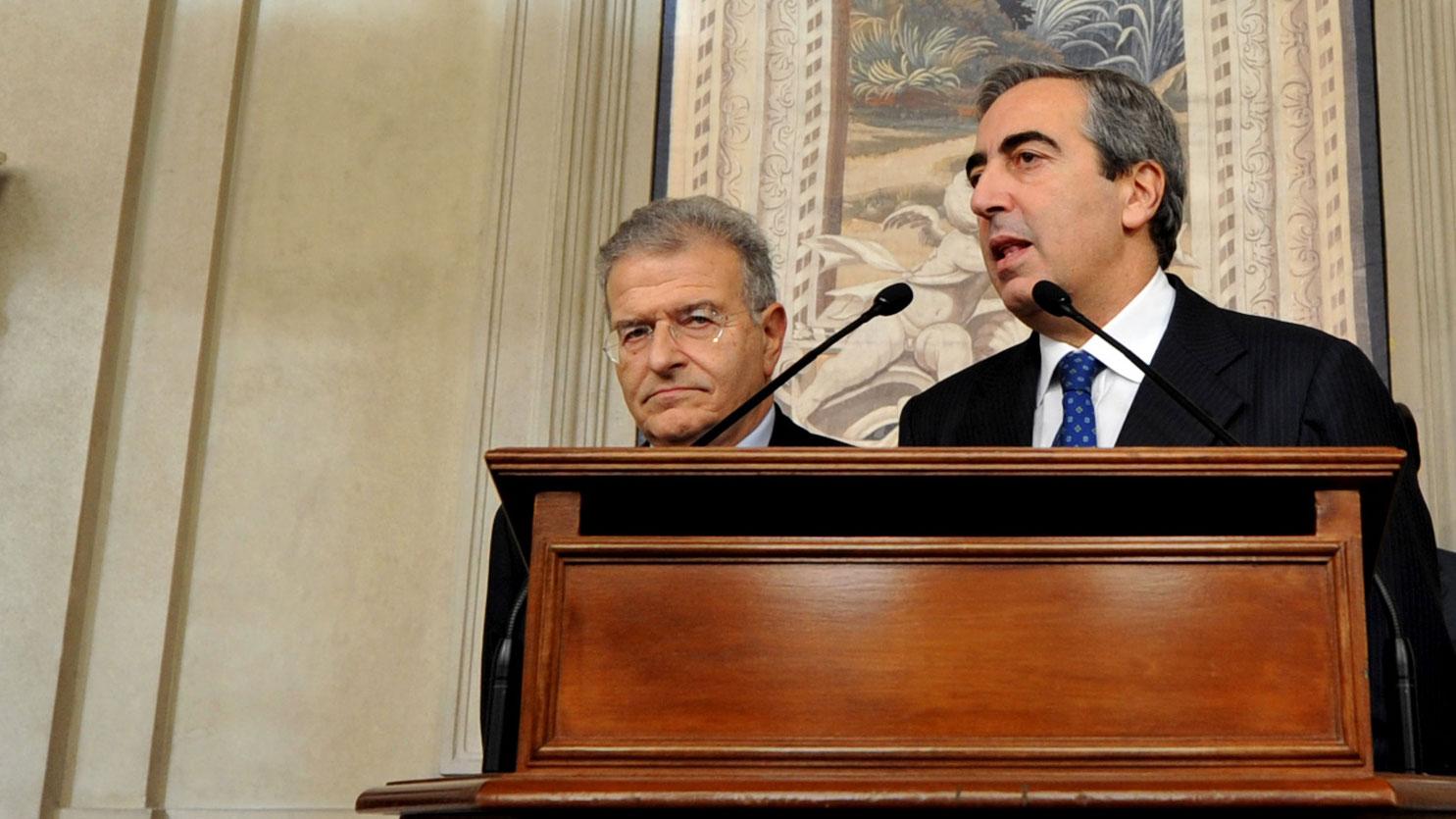 意大利参议院议员、前通信部长毛里齐奥・加斯帕里(Maurizio Gasparri)。(美联社)