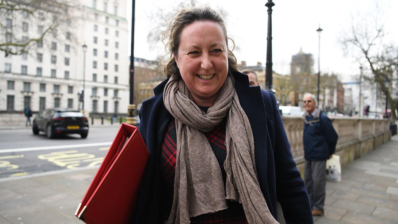 英国国际发展大臣特雷维莱(Anne-Marie Trevelyan)。(法新社)
