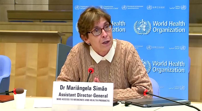 世卫助理秘书长席马欧(Mariangela Simao)指出,世卫正在与中国合作,分享让中国疫苗获得国际批准的规定。(视频截图/路透社)