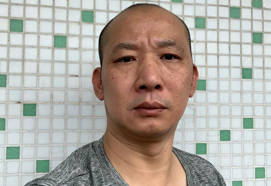 广州公民黄永祥批评当局为了防控疫情无视人权。(黄永祥独家提供,拍摄日期不详)