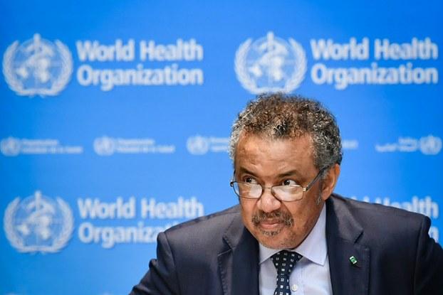 世界卫生组织总干事谭德塞无视疫情恶化,仍赞扬中共,这是中共势力伸入并且掌控国际组织的典型案例。(法新社)