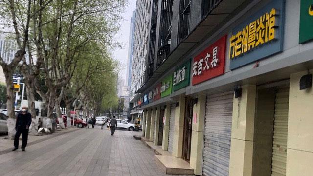 武汉市多数店铺打烊,街道冷冷清清。(资料照)