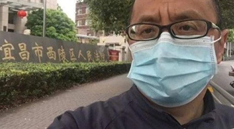 湖北公务员谭军公开起诉湖北省政府。(截图自网路)