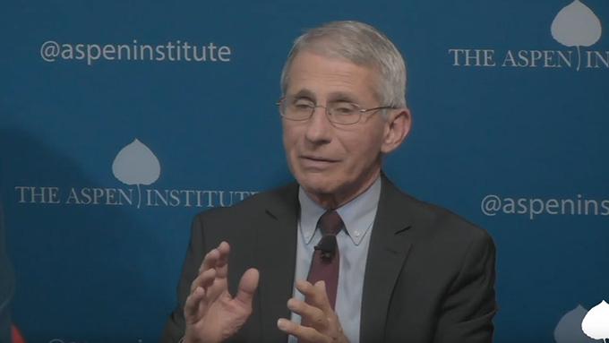 美国国立卫生研究院过敏症及传染病研究所主任弗契(Anthony Fauci)。(视频截图)