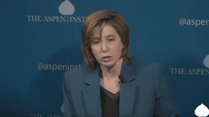 美国疾病控制和预防中心旗下的免疫和呼吸疾病中心主任梅索尼尔(Nancy Messonnier)。(视频截图)