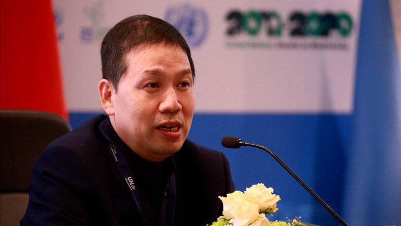 中国生物多样性保护与绿色发展基金会秘书长周晋峰博士。(绿发会提供)