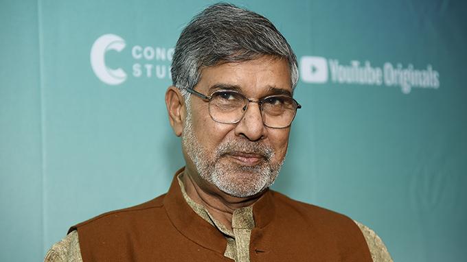 2014年诺贝尔和平奖得主凯拉什-萨蒂亚尔蒂(Kailash Satyarthi)(美联社)