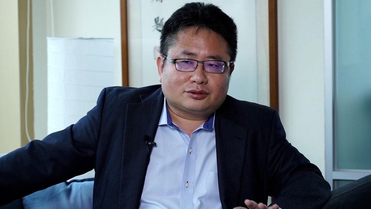 日本《产经新闻》台北支局长矢板明夫19日接受自由亚洲电台采访。(资料照、记者李宗翰摄)