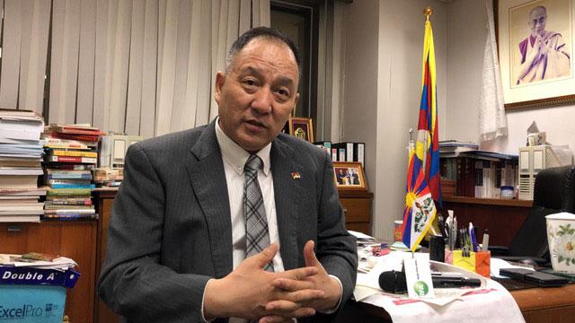 达赖喇嘛派驻台湾的代表达瓦才仁。(记者夏小华摄)