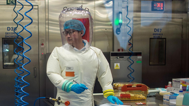 图为武汉P4实验室。(法新社)