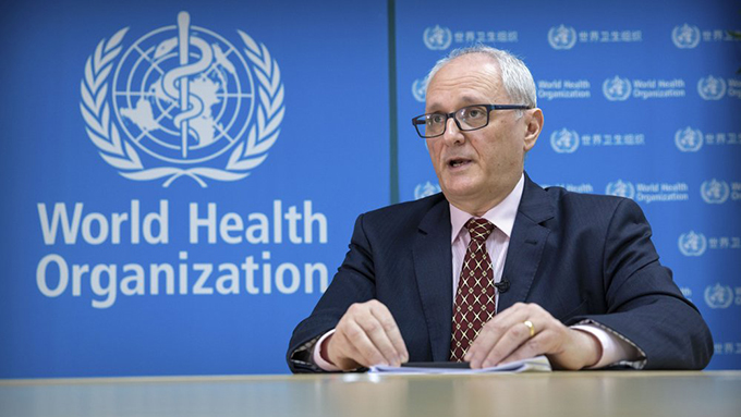 世界卫生组织驻中国代表盖立(Gauden Galea)(美联社)
