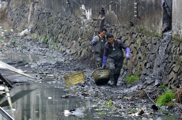 中国河流污染严重