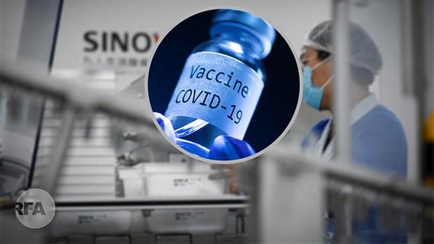 中国新冠疫苗昂贵百姓打不起 医护界忧安全性拒绝接种(自由亚洲电台制图)