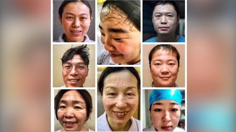 李文亮等8位医生因率先公开武汉疫情,被当地警方训诫。(网络图片/乔龙提供)