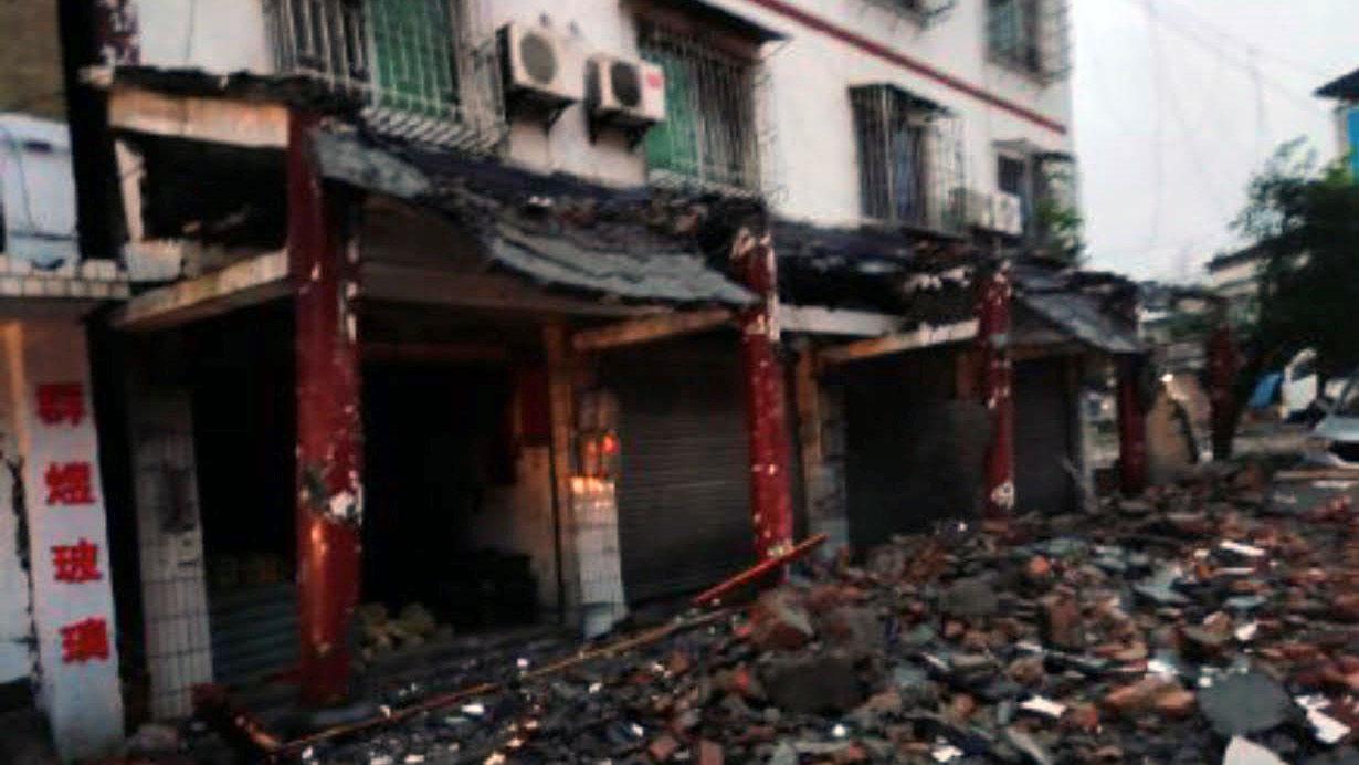 四川瀘縣6級地震造成3死近百人受傷,一百多間房屋損壞。(網絡圖片)