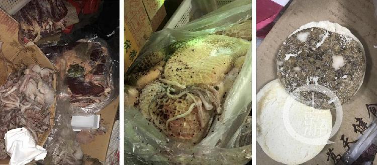 推特图片:成都七中实验学校食堂疑似霉变食材。