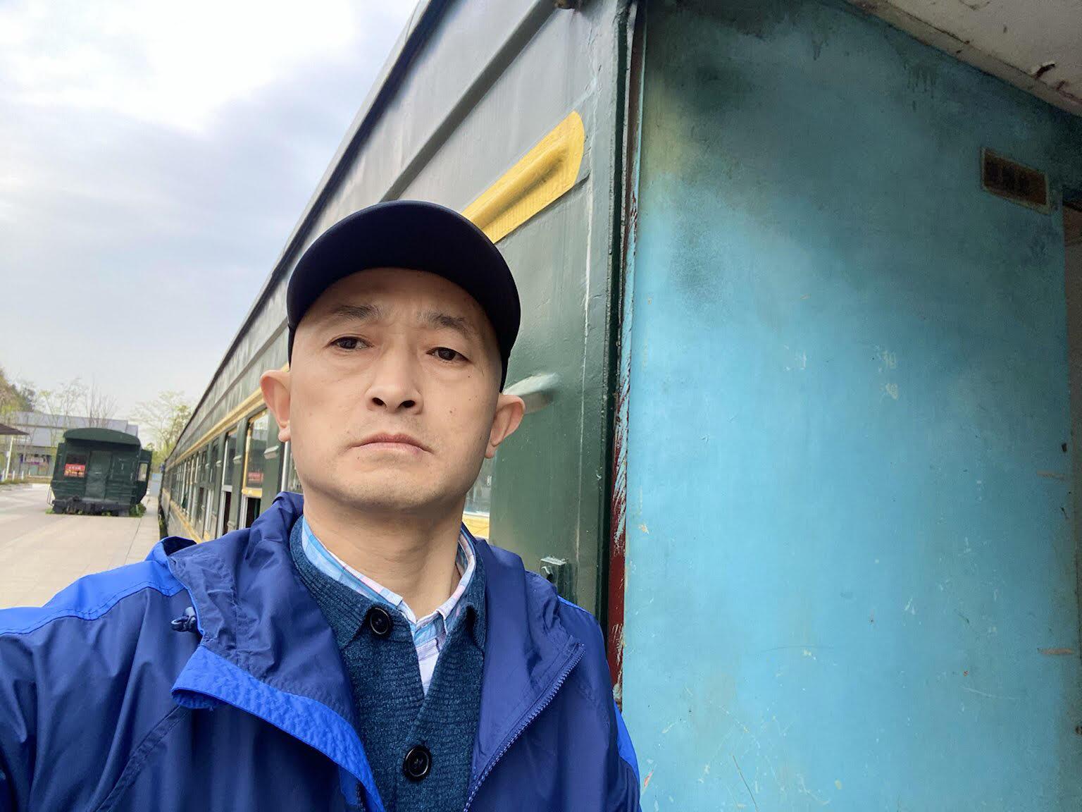 武漢肺炎受害者家屬張海。(志願者提供/記者喬龍)