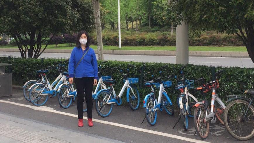 公民记者张展在武汉。(张展提供/记者乔龙)