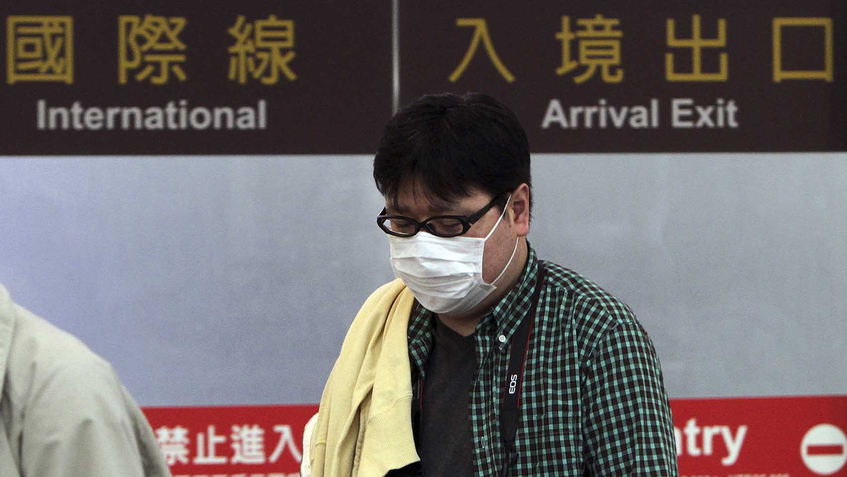 台湾加强机场检疫。(美联社资料图片)