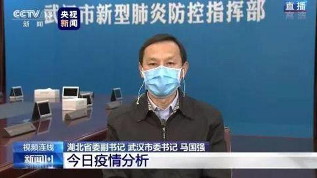 中共武汉市委书记马国强(视频截图)