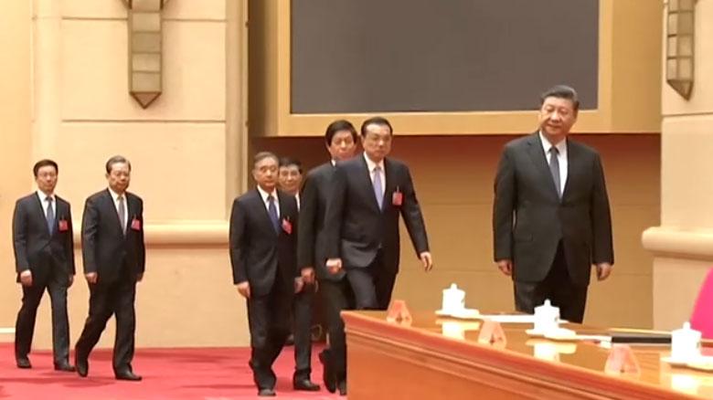 中共总书记、中国国家主席习近平,中国国务院总理李克强等全体政治局常委,出席了中央经济工作会议会议。(视频截图/路透社)