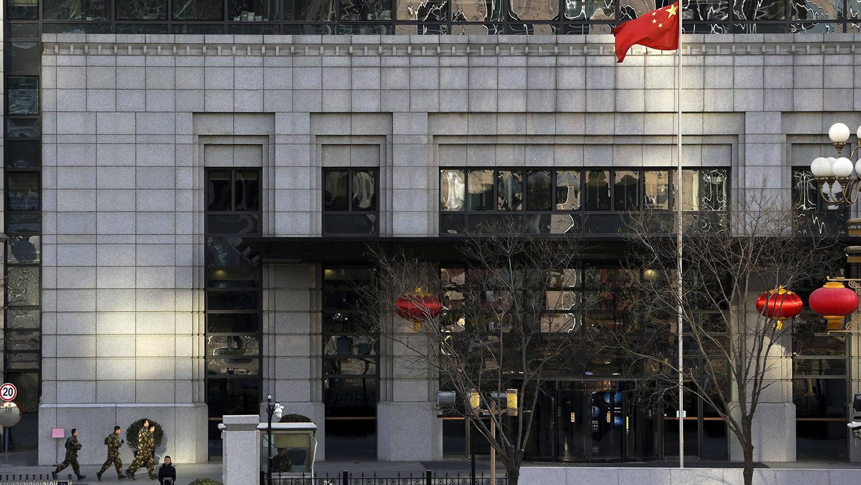 中国商务部。(美联社)