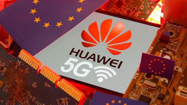资料图片:2020年1月29日,欧盟委员会就华为5G设备做出决定,对华为设备进入欧洲有条件放行。(路透社)