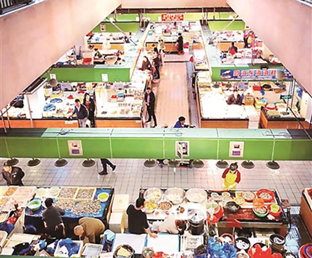 浙江温州菜篮子集团统一改造后的农贸市场(温州菜篮子集团供图)