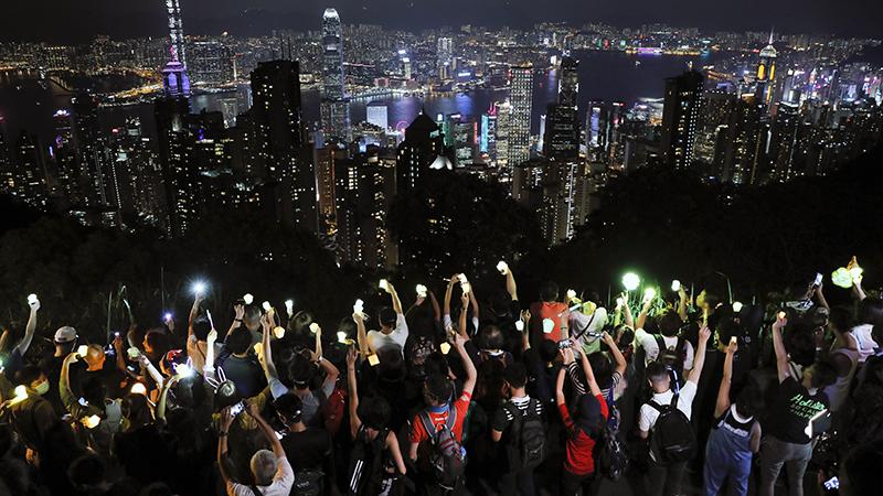 2019年9月13日,香港民众再次走上街头抗议。(美联社)