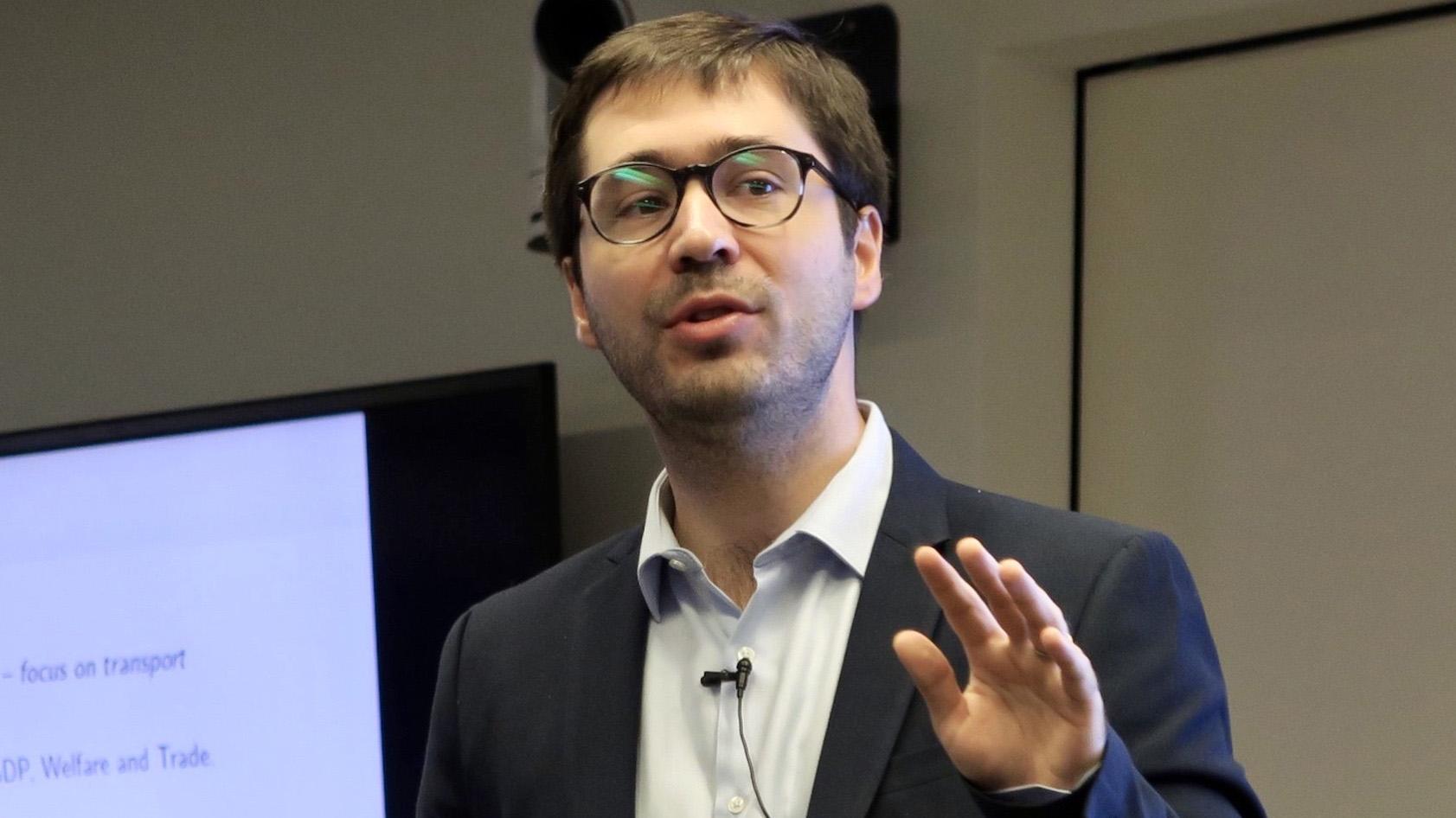 美联储经济学家法兰西·索尔(Francois de Soyres ) 。(唐家婕摄)