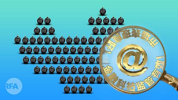 中国政府对大型互联网民营企业的约谈与整改(自由亚洲电台制图)