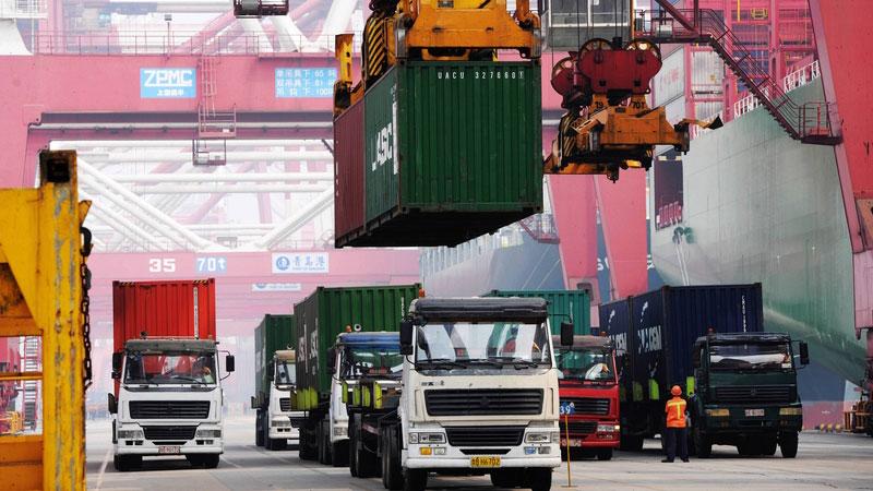数据疲软:中国经济增速放缓。(AFP)