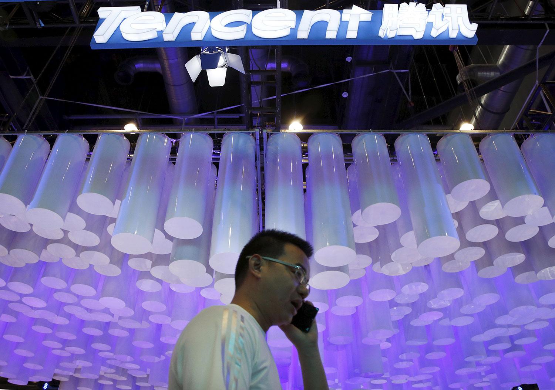 继阿里巴巴之后,中国最大的社交媒体和游戏公司腾讯近期面临被整顿的风险,中国国家市场监督管理总局正展开反垄断调查。(路透社资料图片)
