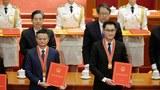 2018年馬雲和馬化騰在北京出席改革開放40週年表彰大會