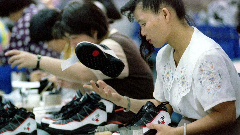 宝成集团生产运动鞋,湖北厂出货量为总产量的2%。(路透社图片)